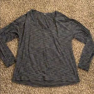 Gray long sleeve LULULEMON Top Shirt Size 12